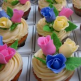 Cupcake Botões de Rosas