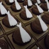 Mini cupcake vestido de noiva