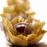 Bala de Brigadeiro - Brigadeiro em calda de caramelo.