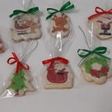 Biscoitos para pendurar na árvore